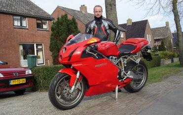 De grootste hobby van Gerke is motor rijden