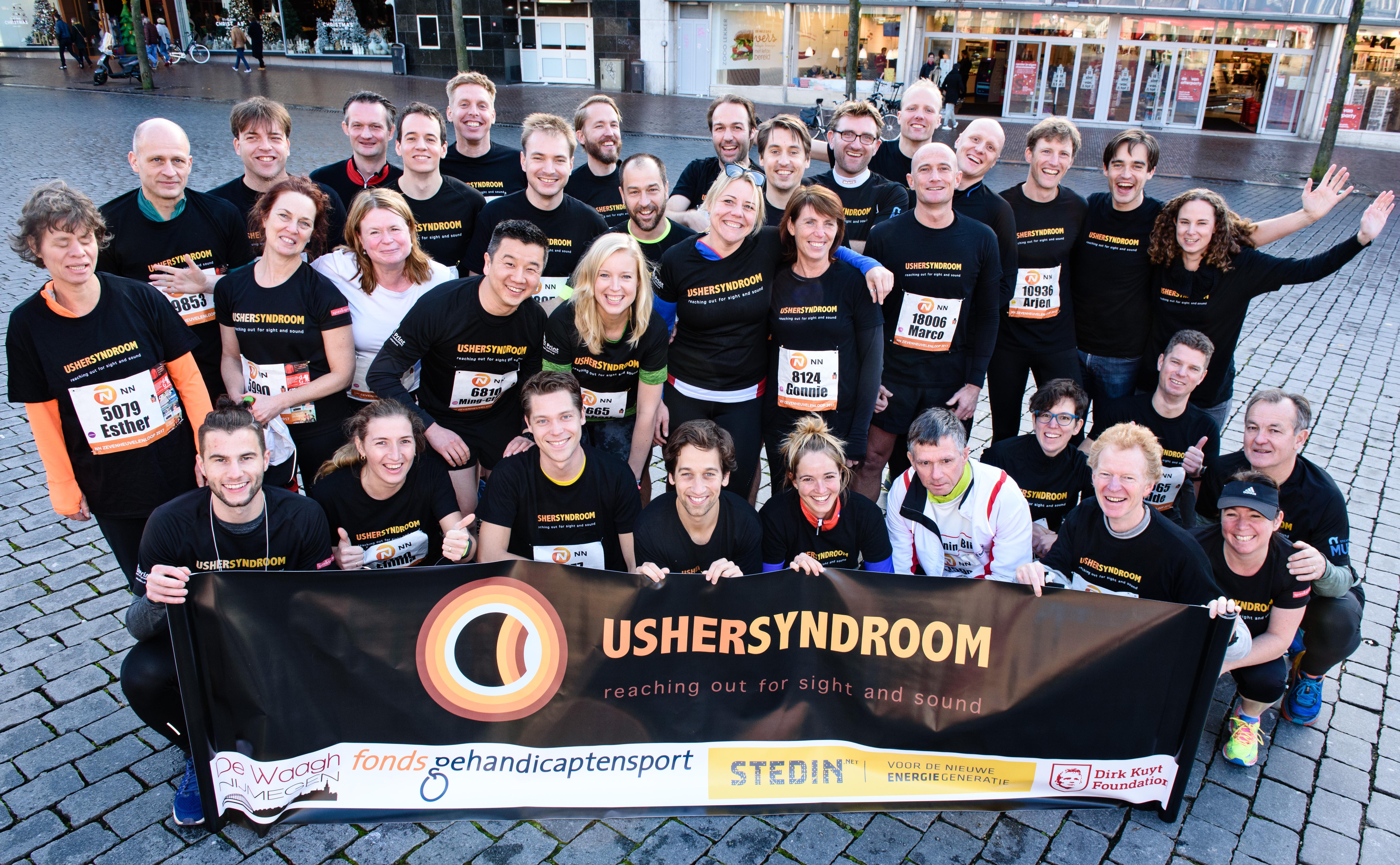 Run4Usher-team zondag 19 november