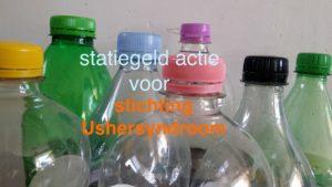 verschillende kleuren plastic flessen