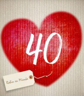 40 jaar blij met elkaar!